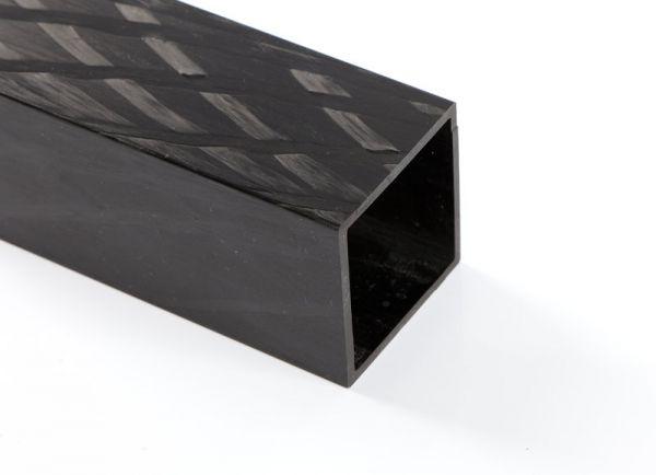Carbon Vierkantrohr 20,0/20,0 x 17,4 x 3000mm
