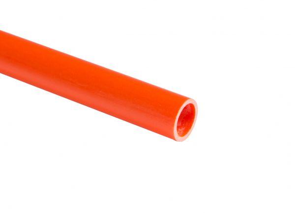 Fiberglasrohr pultrudiert, orange eingefärbt