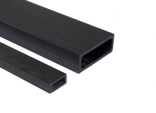 CFK-Rohr Rechteck 50,0/20,0 x 44,0/14,0 x 1000mm