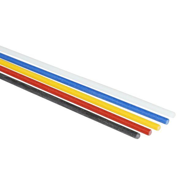 gelb Glasfaser-Stäbe 2,0 x 3000mm GFK-Stab pultrudiert
