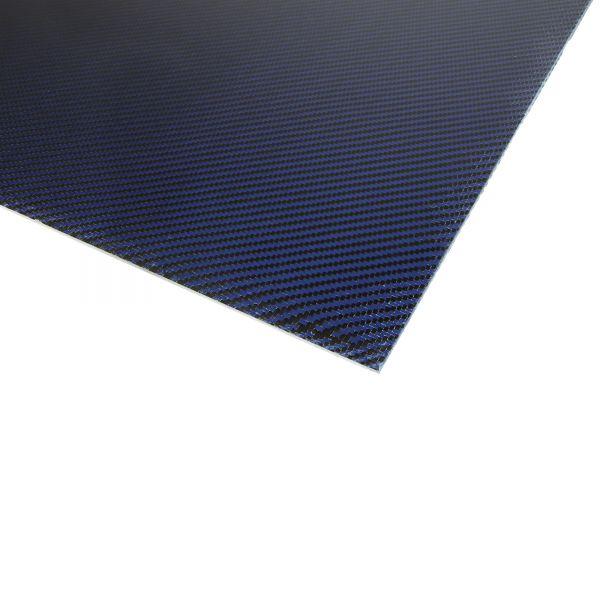Kohlefaserplatten 2,0 x 500 x 400mm blau