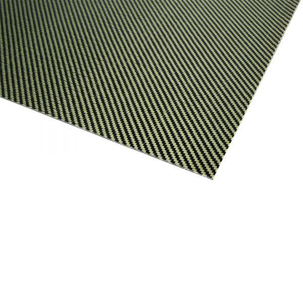 Kohlefaserplatten 2,0 x 500 x 400mm gelb