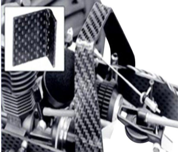 0,8 x 150 x 340mm Memory-Carbon-Platte einseitig rauh